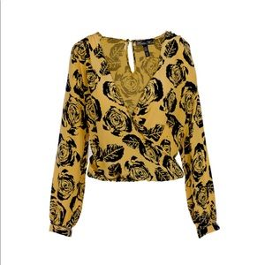 Winter Kate by Nicole Richie Deep V Blouse NWT